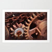 gears of war Art Prints featuring Gears by ephemerality
