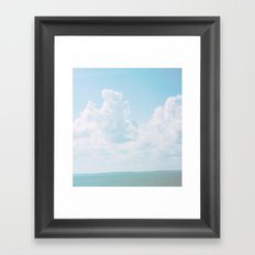 beach scene, vintage, photography, photo backdrop, baby, children Framed Art Print