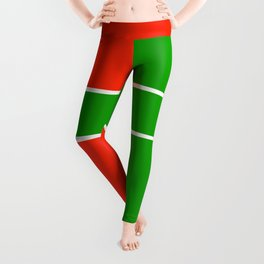 Team Color 6...green,red Leggings