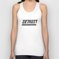 detroit Tank Tops featuring Detroit by Matt Edward