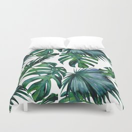 Tropical Palm Leaves Classic Duvet Cover