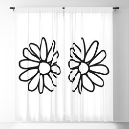 Imperfect Daisy Outline Blackout Curtain
