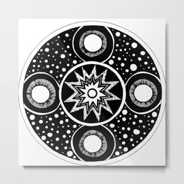 Four Moons Metal Print