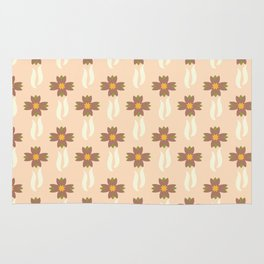Tulip windmills pale pink background Rug