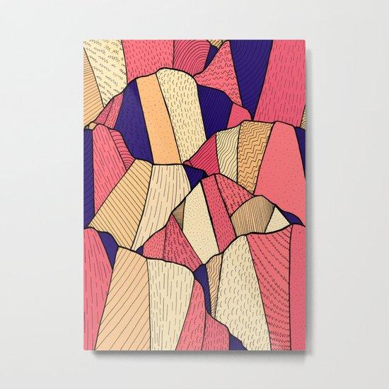 The pattern of hills Metal Print