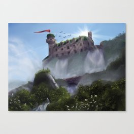 Mansion on a Waterfall Canvas Print