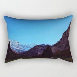 Swiss Alps From Below Rectangular Pillow