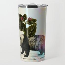Auricular panda Travel Mug