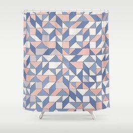 Shifting geometric pattern Shower Curtain