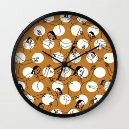 Dancing Ms. Adu Pattern Wall Clock