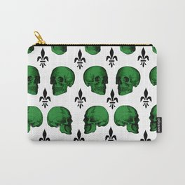 Green Skulls Carry-All Pouch