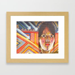 Continental Summit of Indigenous Peoples Mural Framed Art Print