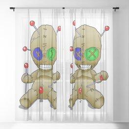 Voodoo doll Sheer Curtain