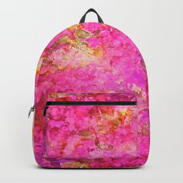 Pink and Red Vintages Roses So Shabby Chic Backpack