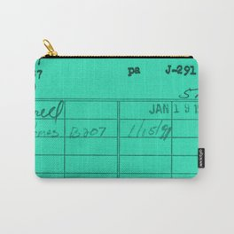 Library Card 797 Turquoise Carry-All Pouch