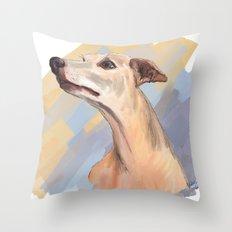 Whippet face Throw Pillow