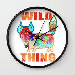 Wild thing - fox Wall Clock
