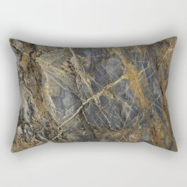 Natural Geological Pattern Rock Texture Rectangular Pillow