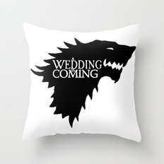 A Wedding Is Coming Throw Pillow