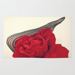 She's a Lady - Surreal Rose Portrait with Sexy Legs Rug