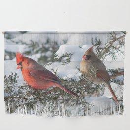 Sunny Winter Cardinals in the Adirondacks Wall Hanging