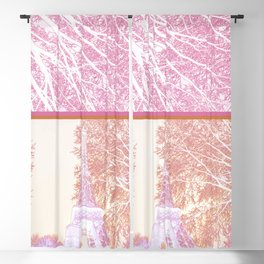 The French Eiffel tower in pink! Blackout Curtain