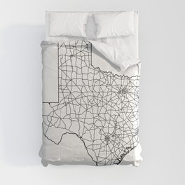 Texas White Map Comforters