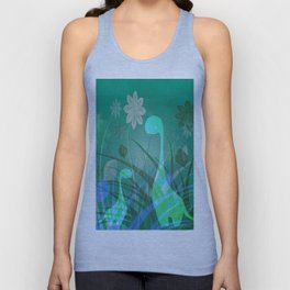 Happy Floral Dinosaurs Unisex Tank Top