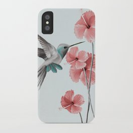 Hummingbird with Hibiscus iPhone Case