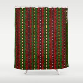 Laberinto Navideño Shower Curtain