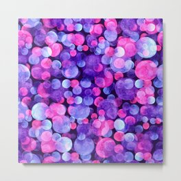 Ultra violet watercolor boken circles Metal Print