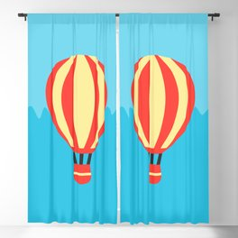 Classic Red and Yellow Hot Air Balloon Blackout Curtain