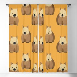 Whimsy Wombat Blackout Curtain