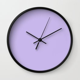 Pastel Baby Soft Purple Lavender Solid Wall Clock