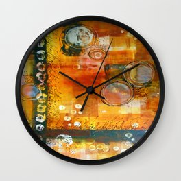 Abstract Hot and Spicy Wall Clock