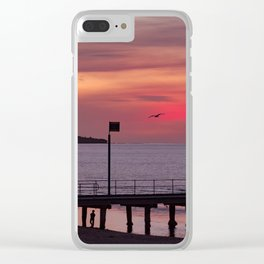 Sunset over Mount Eliza Clear iPhone Case
