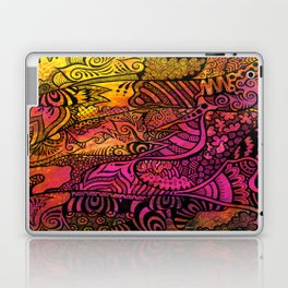 Tangled in the pink sunset Laptop & iPad Skin