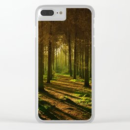 A Walk in the Woods Scenic Photography. Clear iPhone Case