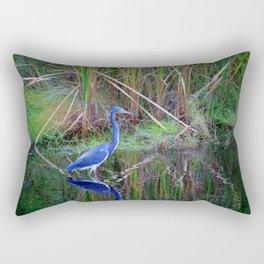 Little Blue Heron Rectangular Pillow