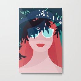 Red Hair Woman Metal Print