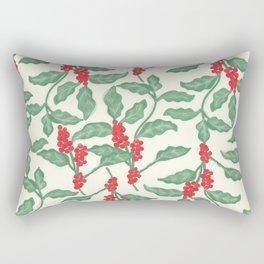 Coffee Plant Pattern Rectangular Pillow