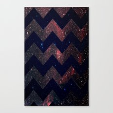 Chevron Sky Canvas Print