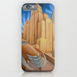 I Will Possess Your Heart - New York City Art Deco Landscape iPhone Case