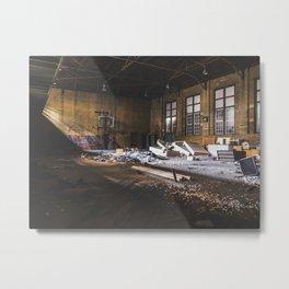 Abandoned Gym Metal Print