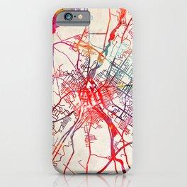 Lewiston map Maine ME iPhone Case