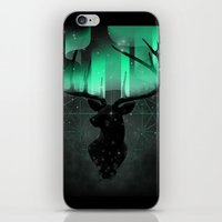 northern lights iPhone & iPod Skins featuring Northern Lights by angrymonk