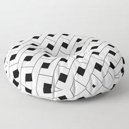 Monochrome Intricate Pattern Alpha Floor Pillow