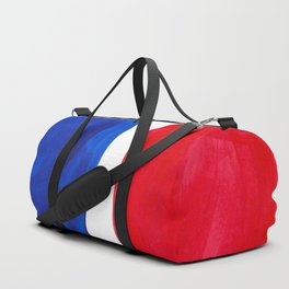 Mid Century Vintage Abstract Minimalist Colorful Pop Art Complementary Colors Blue Red Bubbles Duffle Bag