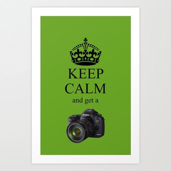 KEEP CALM CANON 5D Art Print