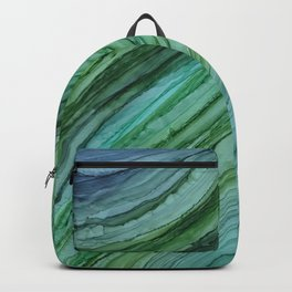 Green Agate Geode Slice Backpack